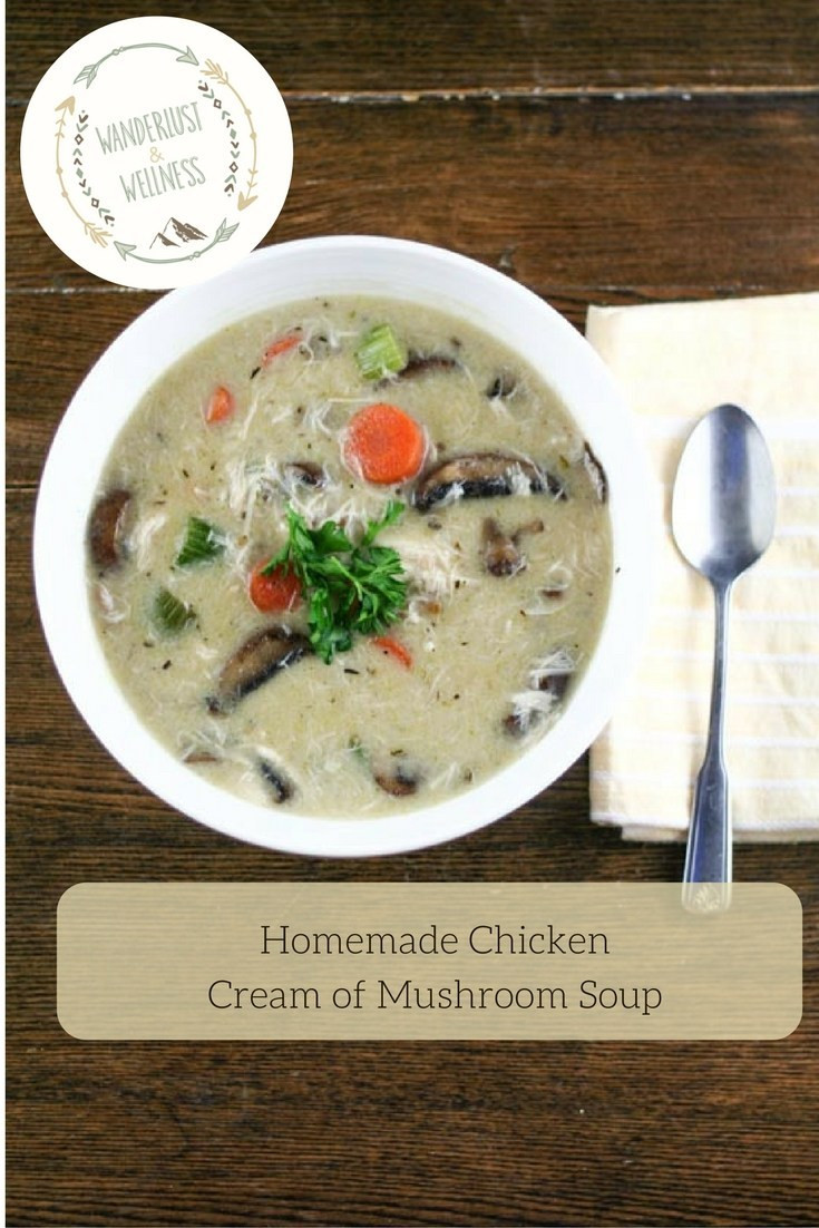 Chicken And Cream Of Mushroom Soup  Homemade Chicken Cream of Mushroom Soup Wanderlust and