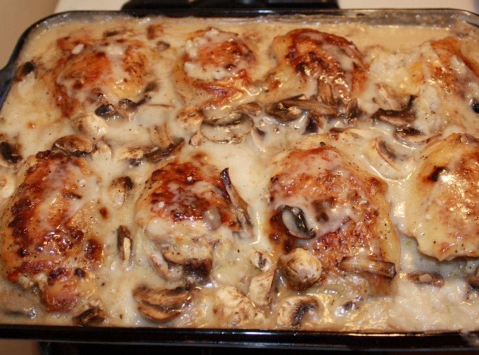 Chicken And Cream Of Mushroom Soup  rice chicken casserole cream of mushroom