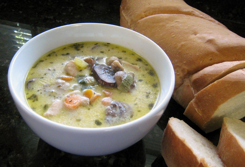 Chicken And Cream Of Mushroom Soup  Creamy Chicken Mushroom Soup Recipe