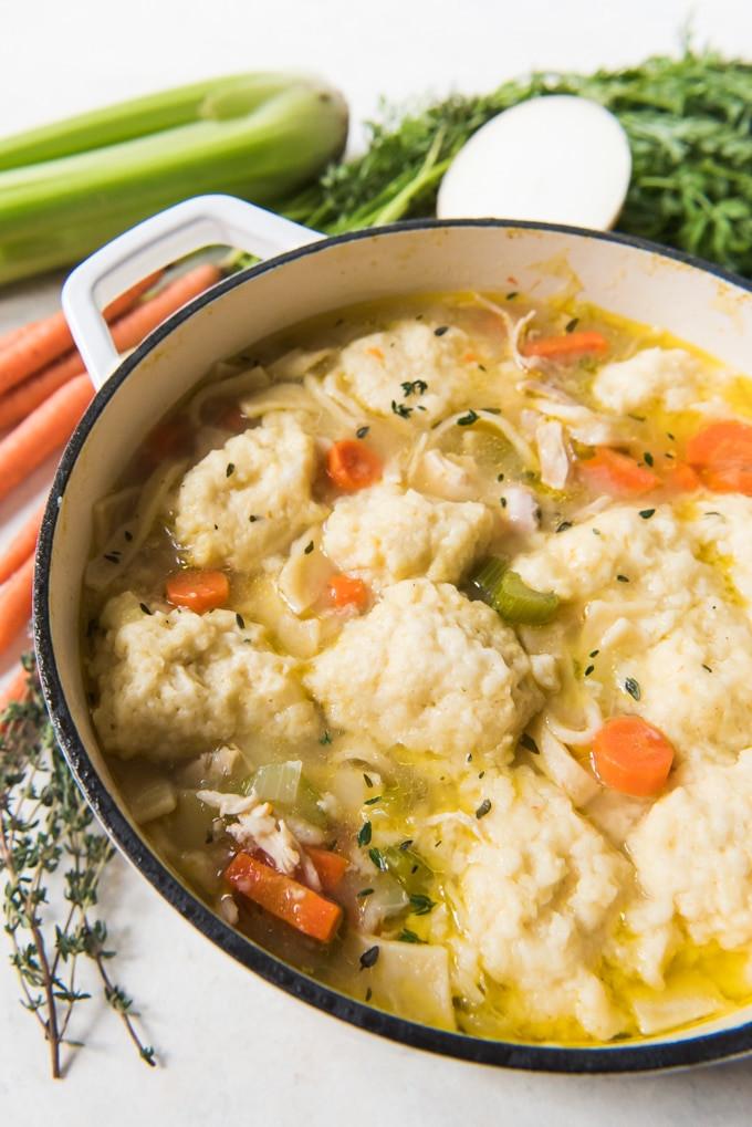 Chicken And Dumplings Soup  Chicken Noodle & Dumpling Soup House of Nash Eats
