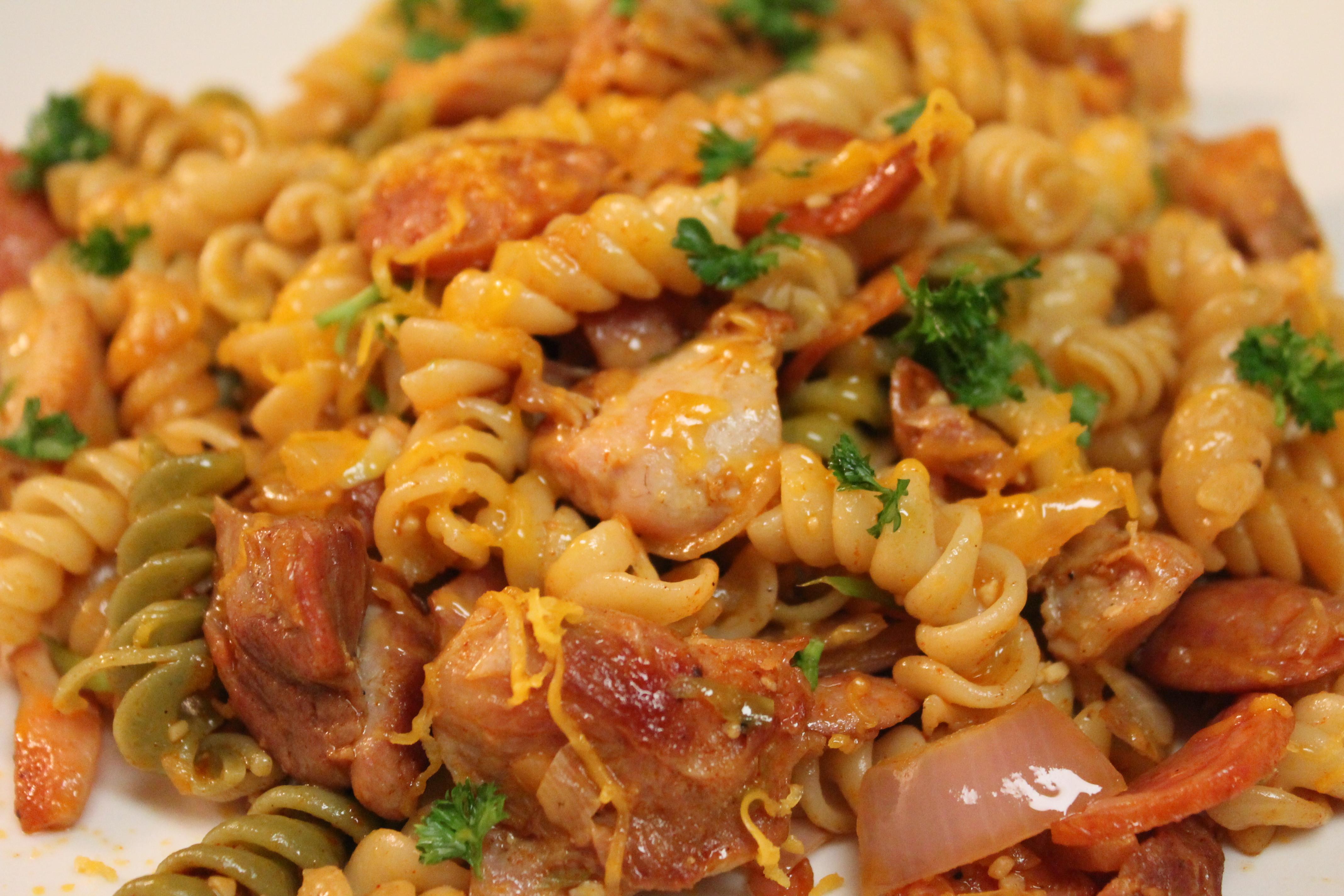 Chicken And Sausage Recipes  Cajun Chicken and Sausage Pasta