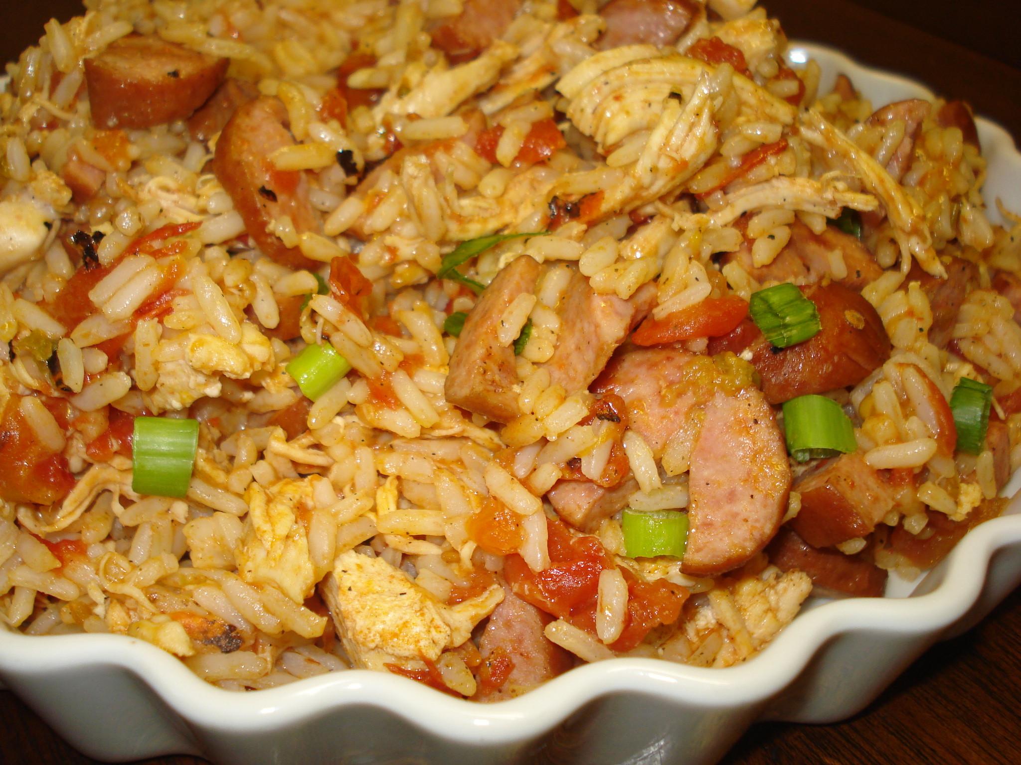 Chicken And Sausage Recipes  Chicken and Sausage Jambalaya