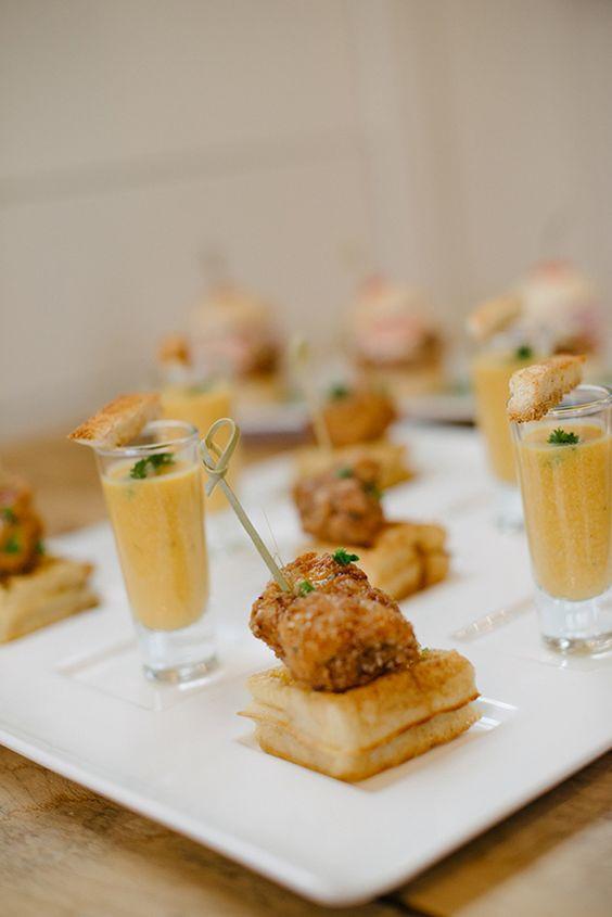Chicken And Waffles Appetizer  Summer Wedding Appetizer Ideas wedding appetizers menu ideas
