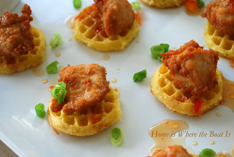 Chicken And Waffles Appetizer  Mini Chicken and Waffles Party Bites – Home is Where the