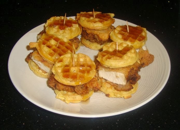 Chicken And Waffles Appetizer  Sarah s Kitchen Mini Chicken and Waffles
