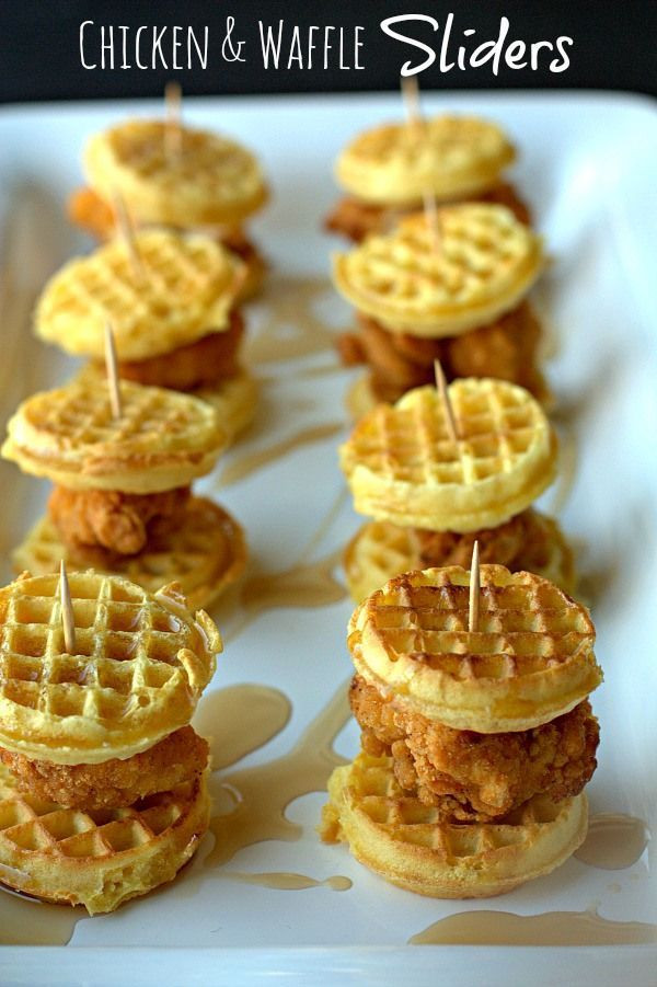 Chicken And Waffles Appetizer  Party Food Ideas Mini Bites Party Food Recipes