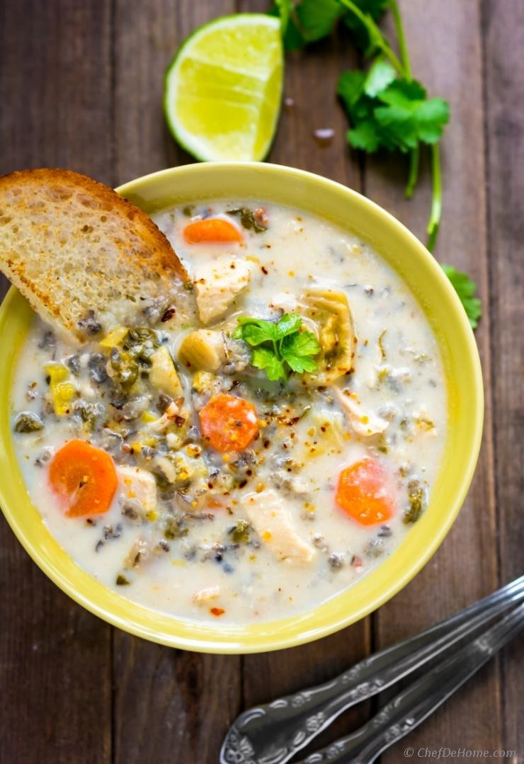 Chicken And Wild Rice Soup Recipe  Chicken and Wild Rice Soup in Slow Cooker Recipe