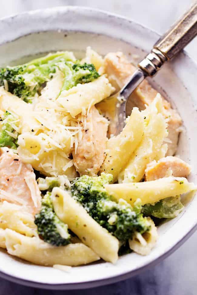 Chicken Broccoli Alfredo  Three Cheese Chicken Broccoli Alfredo