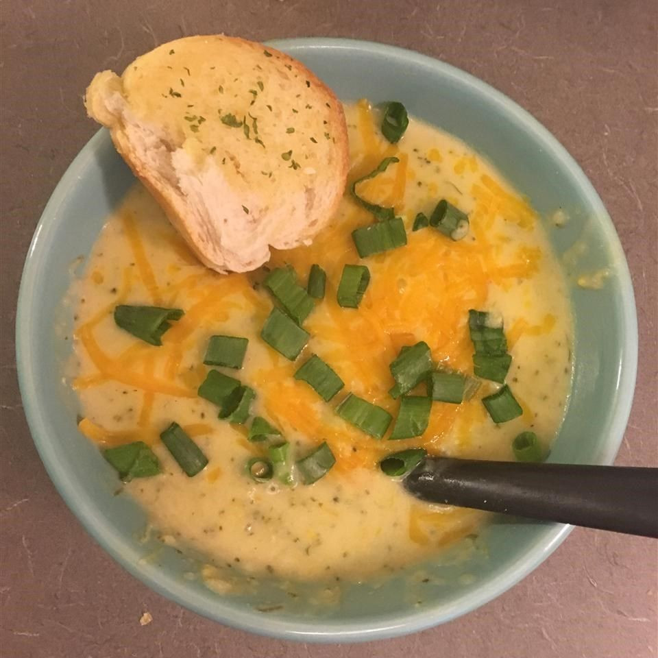 Chicken Broccoli Cheese Soup  Broccoli Cheese Soup with Chicken recipe All recipes UK