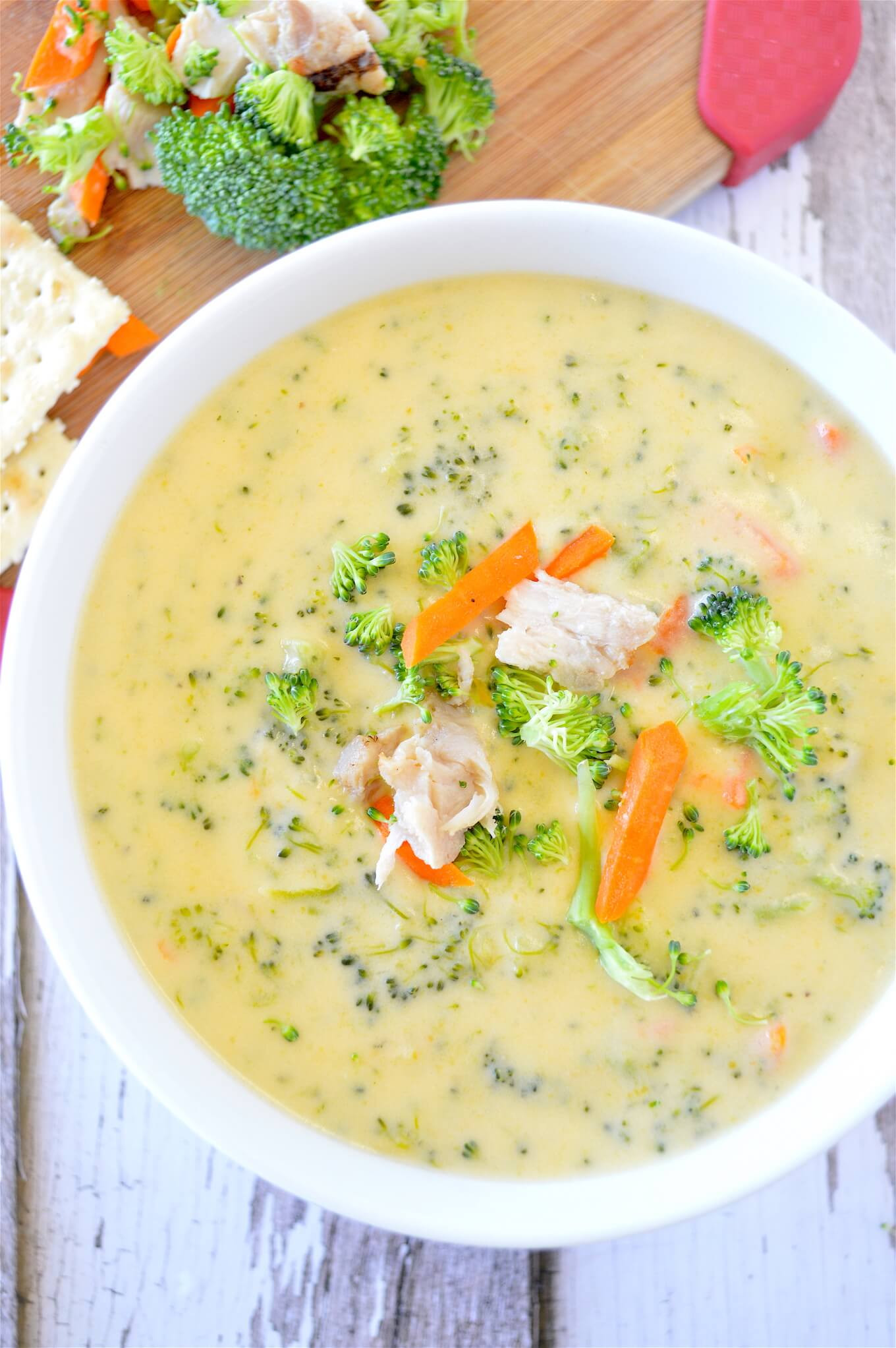 Chicken Broccoli Cheese Soup  Chicken Cheddar Broccoli Soup is Delicious for Fall