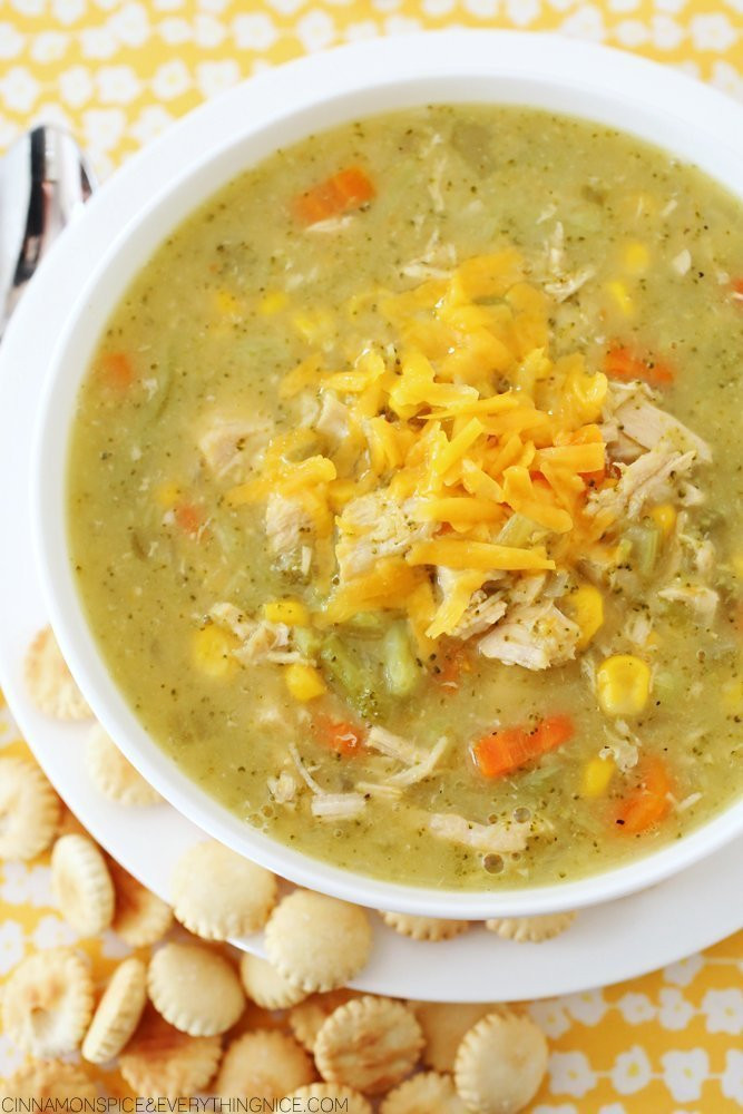 Chicken Broccoli Cheese Soup  Cheddar Broccoli Chicken Soup