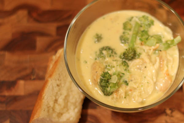 Chicken Broccoli Cheese Soup  Recipe for Broccoli Cheddar Soup with shredded chicken
