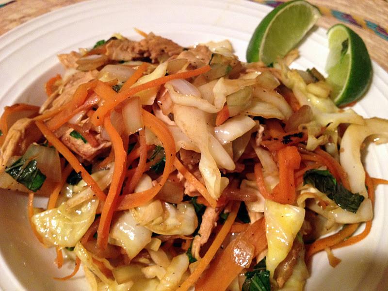Chicken Cabbage Stir Fry  Leah s Clean Kitchen Thai Chicken and Cabbage Stir fry