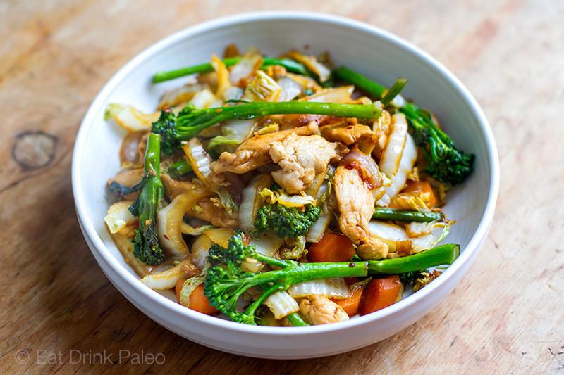 Chicken Cabbage Stir Fry  Chicken Cabbage Stir Fry Paleo Gluten Free Recipe