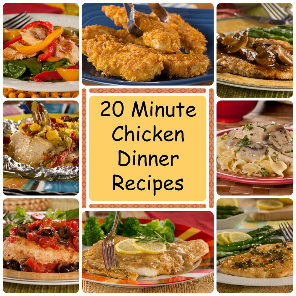 Chicken Dinner Recipes  20 Minute Chicken Dinner Recipes