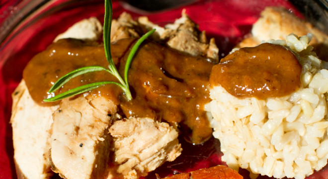 Chicken Gravy From Scratch  Drippings & Browned Fond from Roasted Chicken Archives