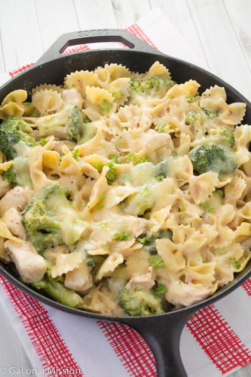 Chicken Macaroni Casserole  TASTY FOOD POULTRY BROCCOLI & PASTA FRYING PAN CASSEROLE