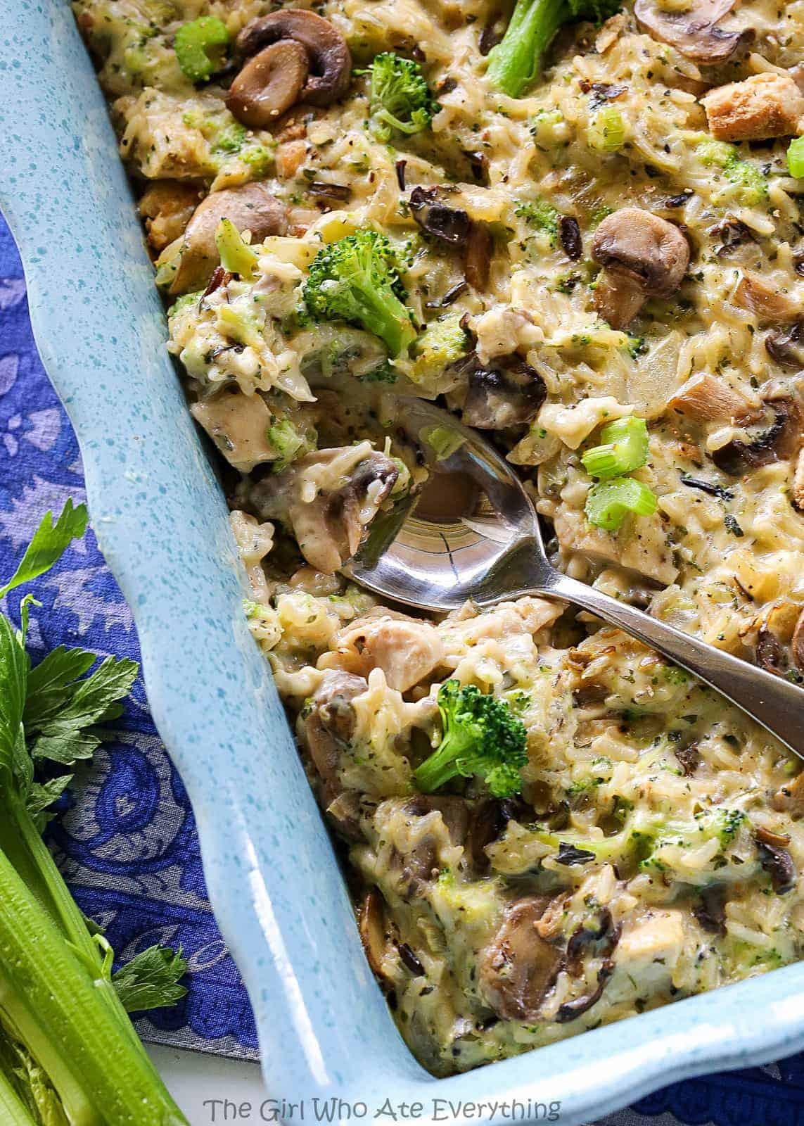Chicken Mushroom Rice Casserole  Chicken Mushroom Broccoli and Rice Casserole