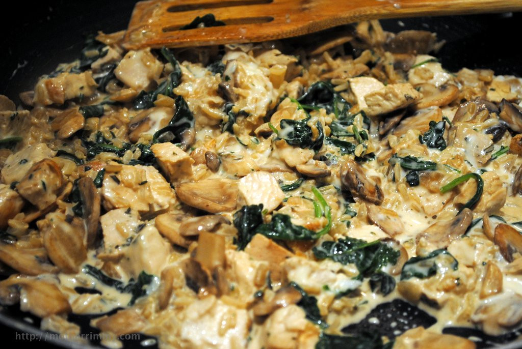 Chicken Mushroom Rice Casserole  chicken mushroom brown rice casserole