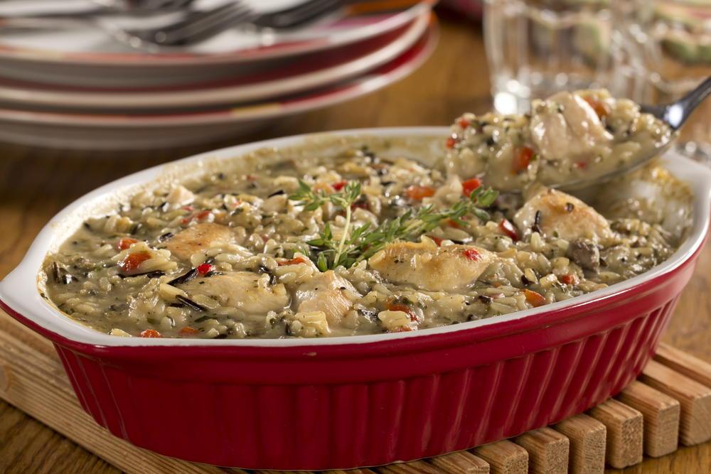 Chicken Mushroom Rice Casserole  Mushroom Chicken & Rice Bake