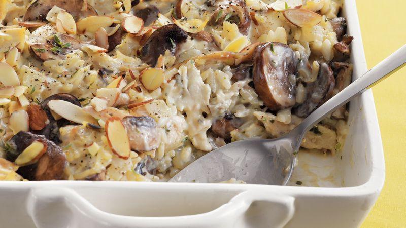 Chicken Mushroom Rice Casserole  Chicken Mushroom and Wild Rice Bake Recipe BettyCrocker