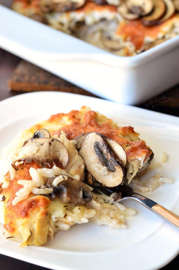 Chicken Mushroom Rice Casserole  Creamy Chicken Mushroom Rice Casserole Will Cook For Smiles