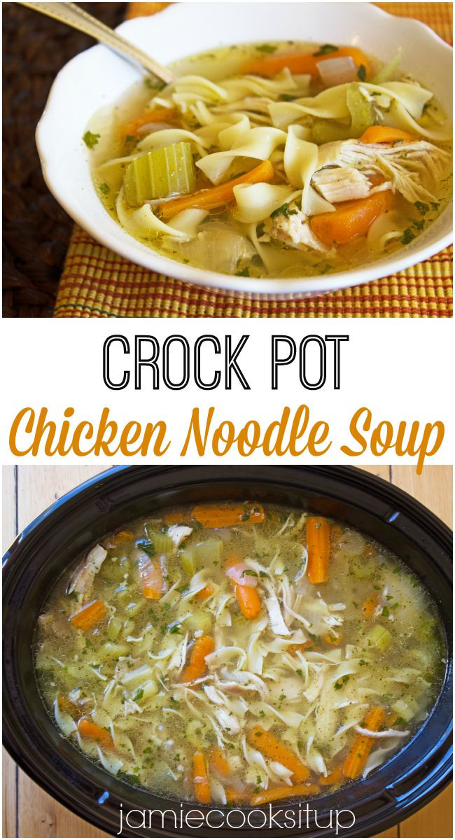 Chicken Noodle Soup Crockpot  Crock Pot Chicken Noodle Soup