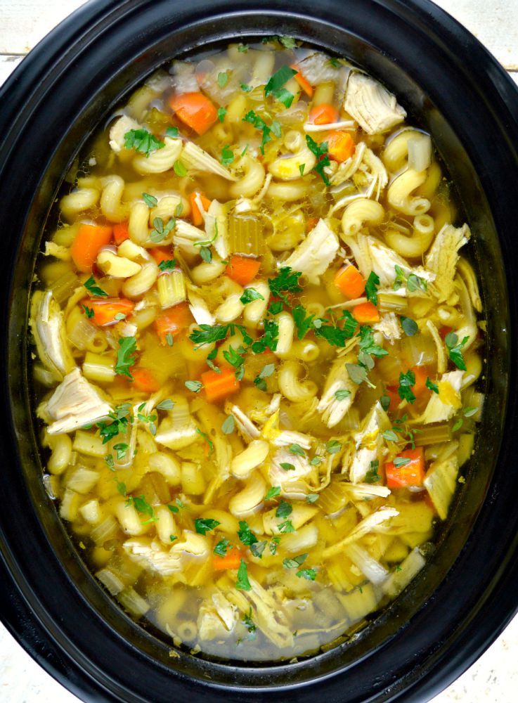 Chicken Noodle Soup Crockpot  Crock Pot Chicken Noodle Soup Gonna Want Seconds