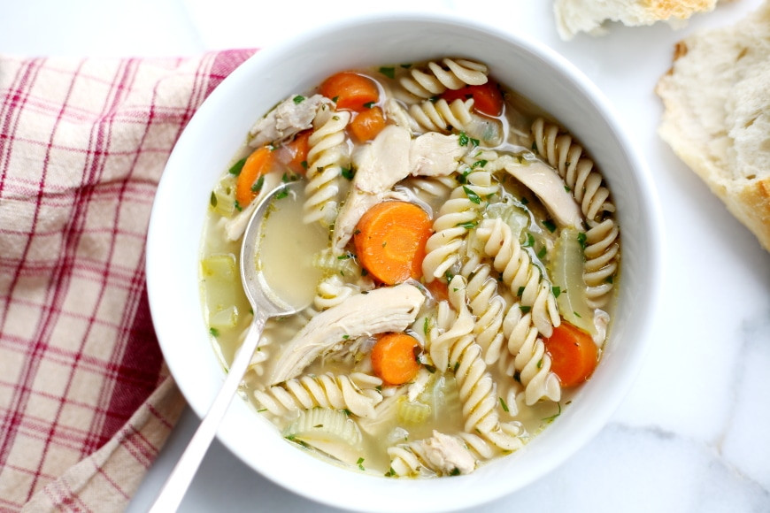 Chicken Noodle Soup For The Soul  Homemade Chicken Soup in Under an Hour