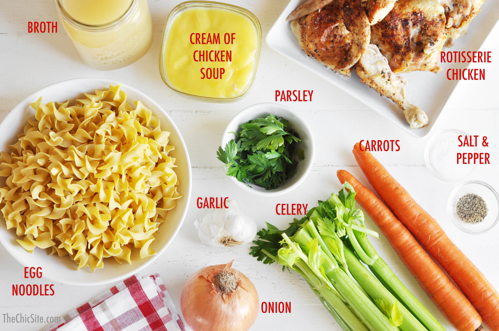 Chicken Noodle Soup Ingredients  Slow Cooker Chicken Soup The Chic Site