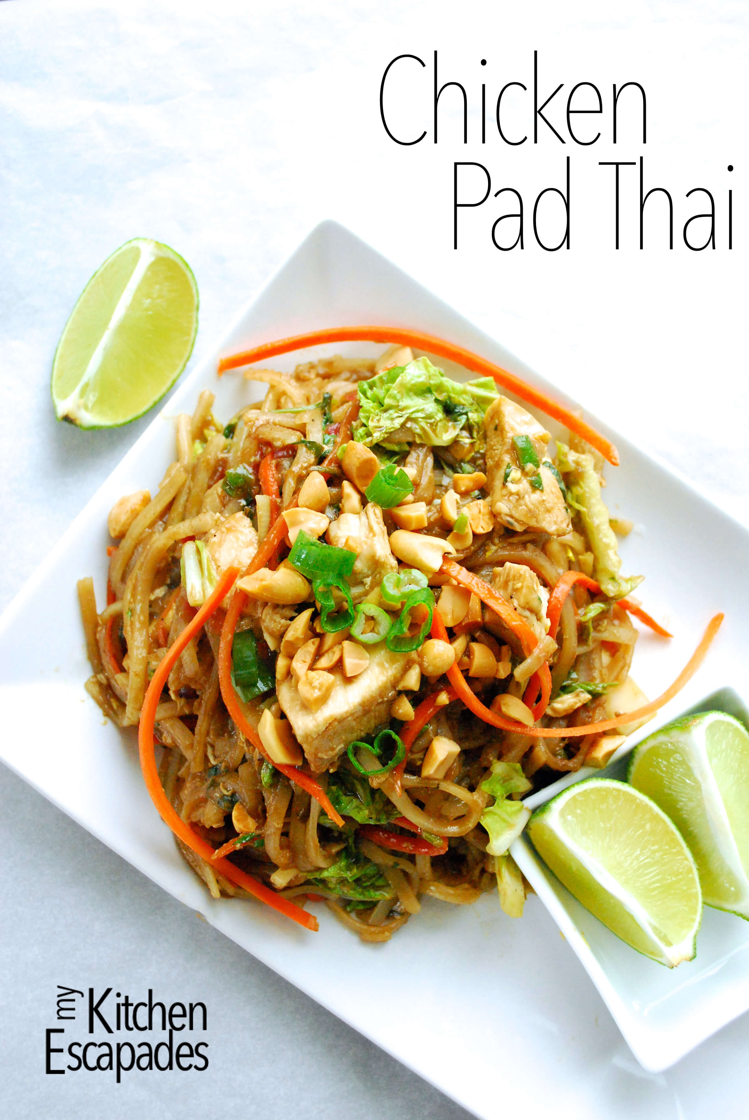 Chicken Pad Thai  Chicken Pad Thai My Kitchen Escapades