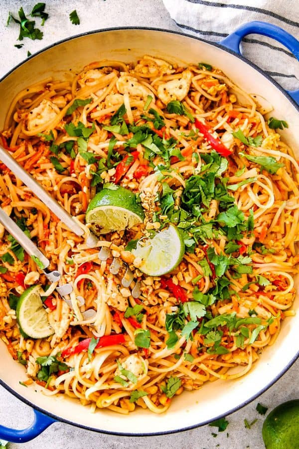 Chicken Pad Thai  BEST EVER Chicken Pad Thai Video with Pantry Friendly