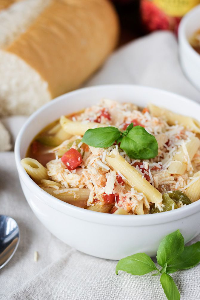 Chicken Parm Soup  Slow Cooker Chicken Parmesan Soup Jennifer Meyering
