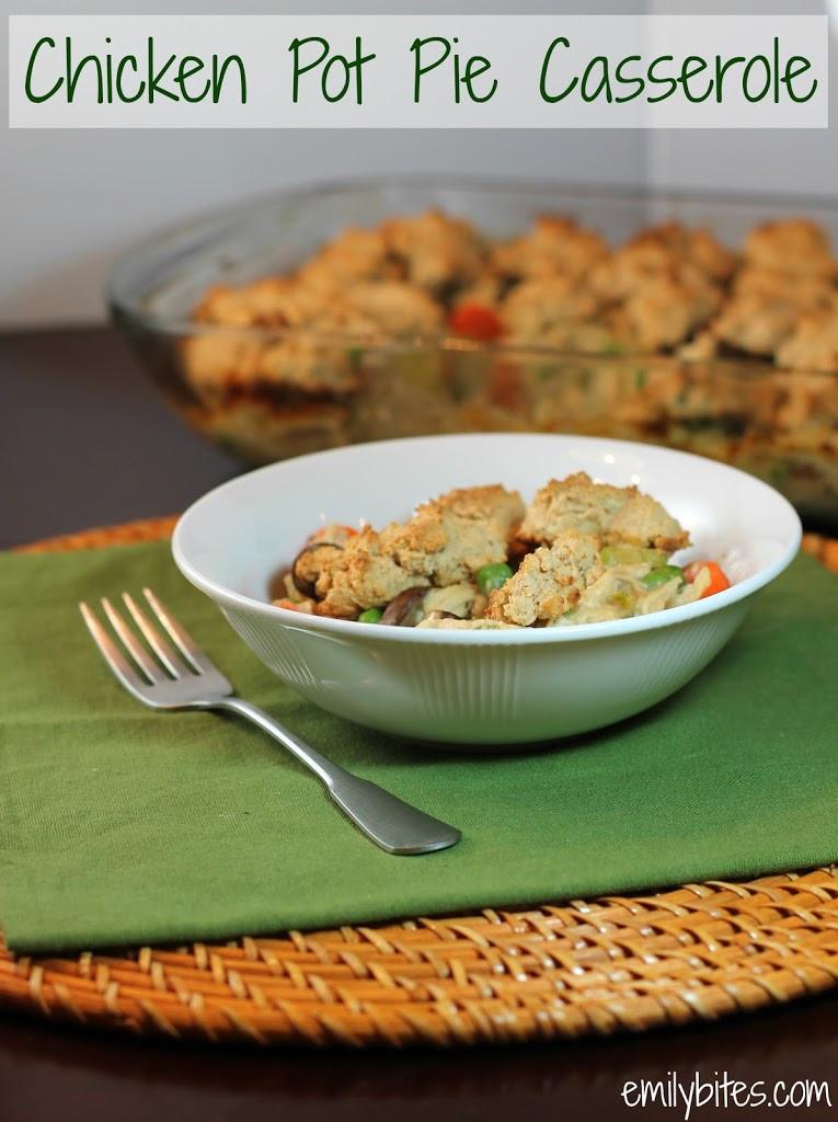 Chicken Pot Pie Casserole Recipe  Chicken Pot Pie Casserole Emily Bites
