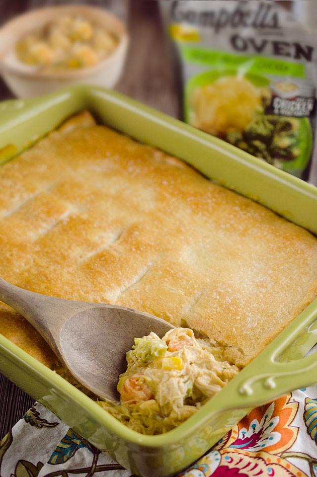 Chicken Pot Pie Casserole Recipe  Cheesy Chicken Pot Pie Casserole