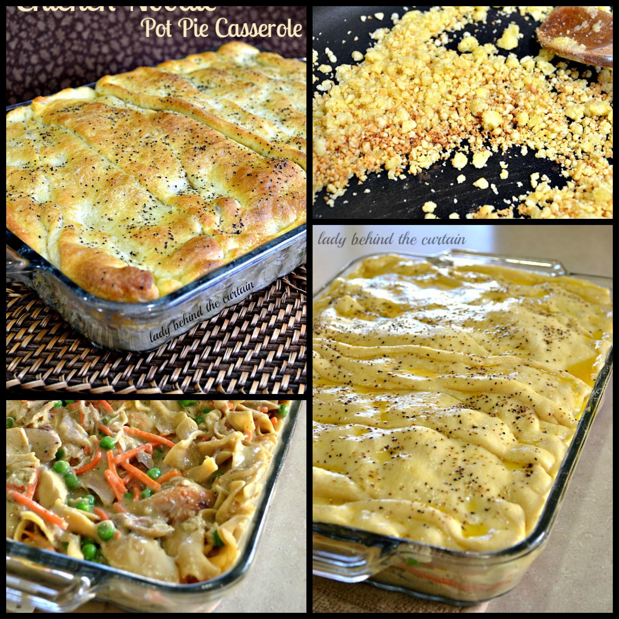 Chicken Pot Pie Casserole Recipe  Chicken Noodle Pot Pie Casserole