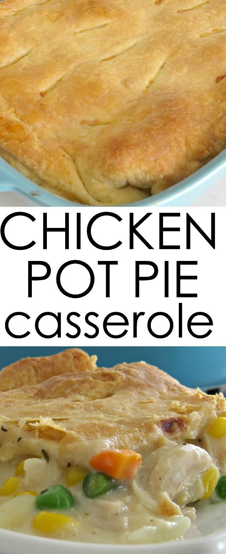 Chicken Pot Pie Casserole Recipe  Chicken Pot Pie Casserole Written Reality