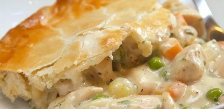 Chicken Pot Pie Casserole Recipe  Oven Baked Easy Chicken Pot Pie Casserole Recipe