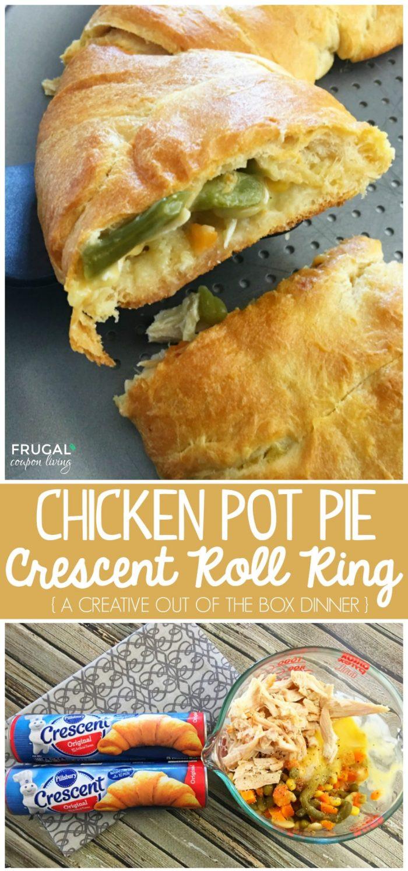 Chicken Pot Pie Pillsbury  Chicken Pot Pie Crescent Roll Ring