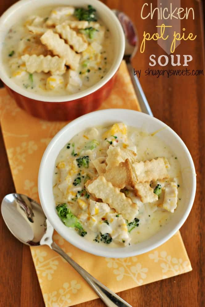 Chicken Pot Pie Soup Recipe  Chicken Pot Pie Soup Shugary Sweets