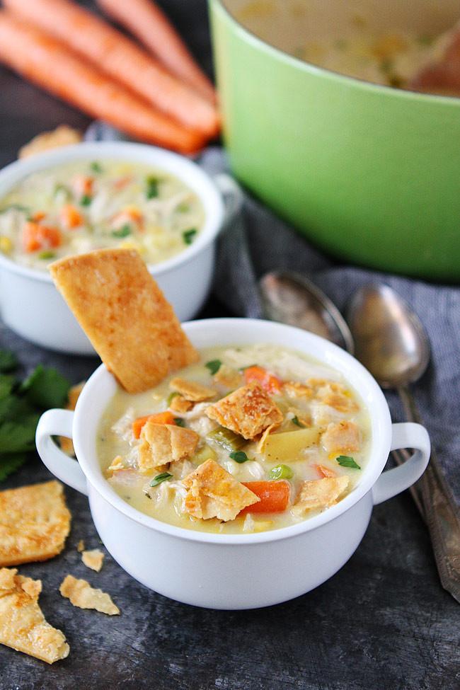 Chicken Pot Pie Soup Recipe  Chicken Pot Pie Soup Recipe TheDirtyGyro