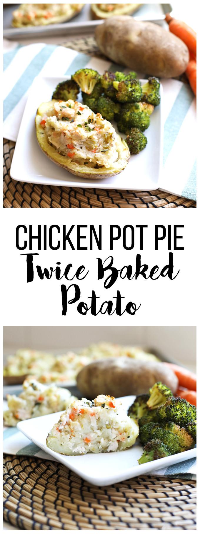 Chicken Pot Pie With Potatoes  Chicken Pot Pie Twice Baked Potatoes – Little Bits of…