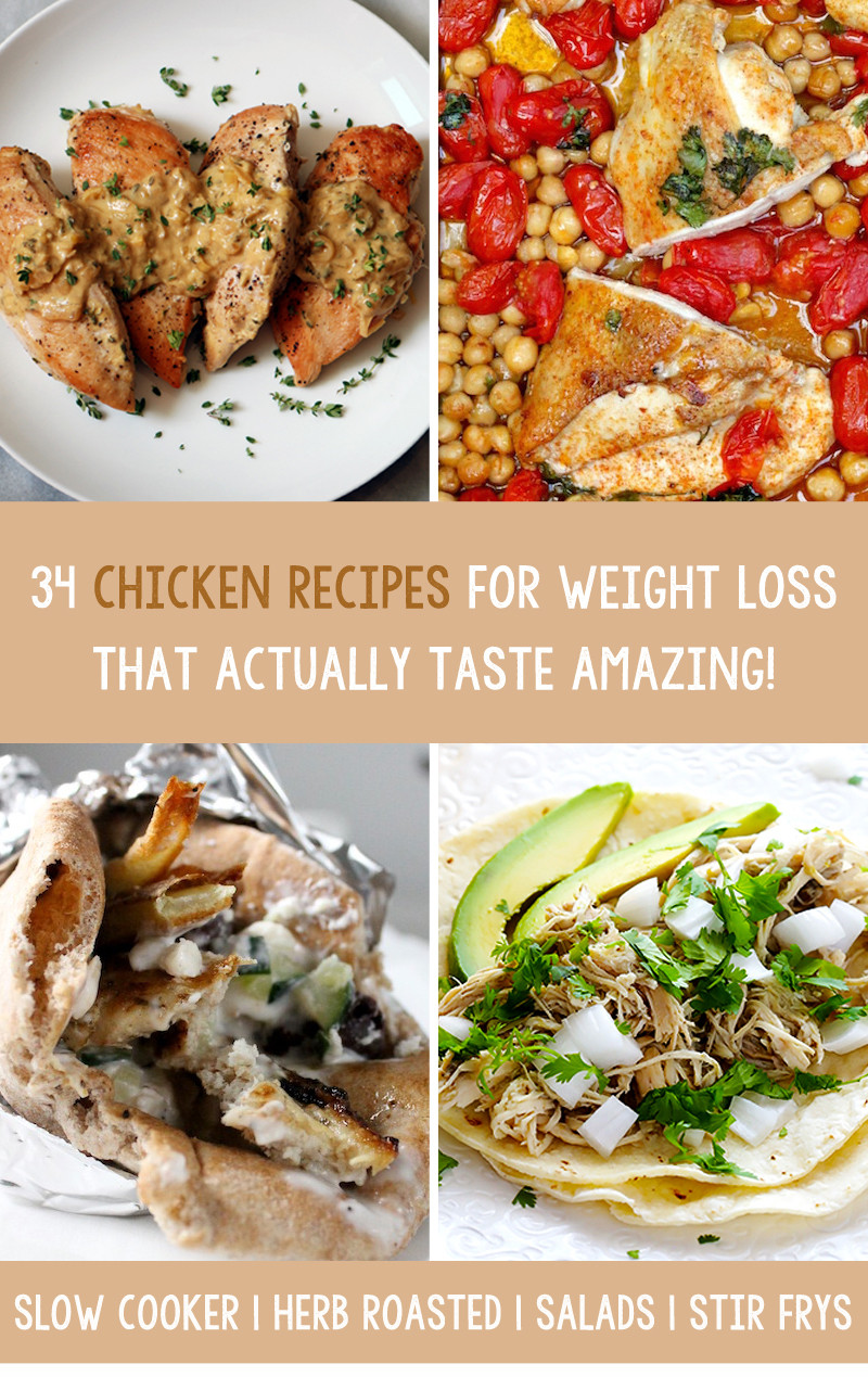Chicken Recipes Weight Loss  34 Chicken Recipes For Weight Loss That Actually Taste