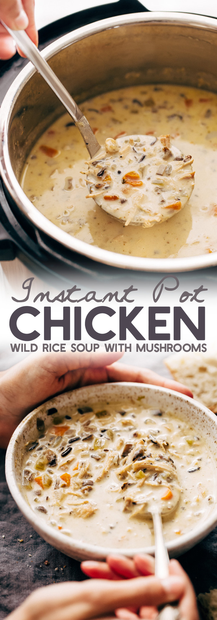Chicken Rice Soup Instant Pot  Instant Pot Chicken Wild Rice Soup Recipe