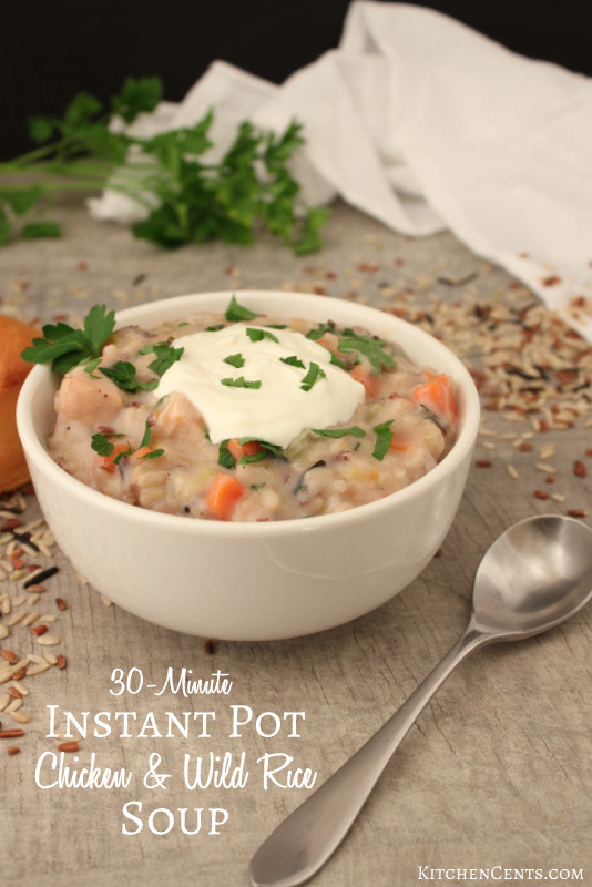 Chicken Rice Soup Instant Pot  Quick & Easy Chicken Wild Rice Soup with Instant Pot