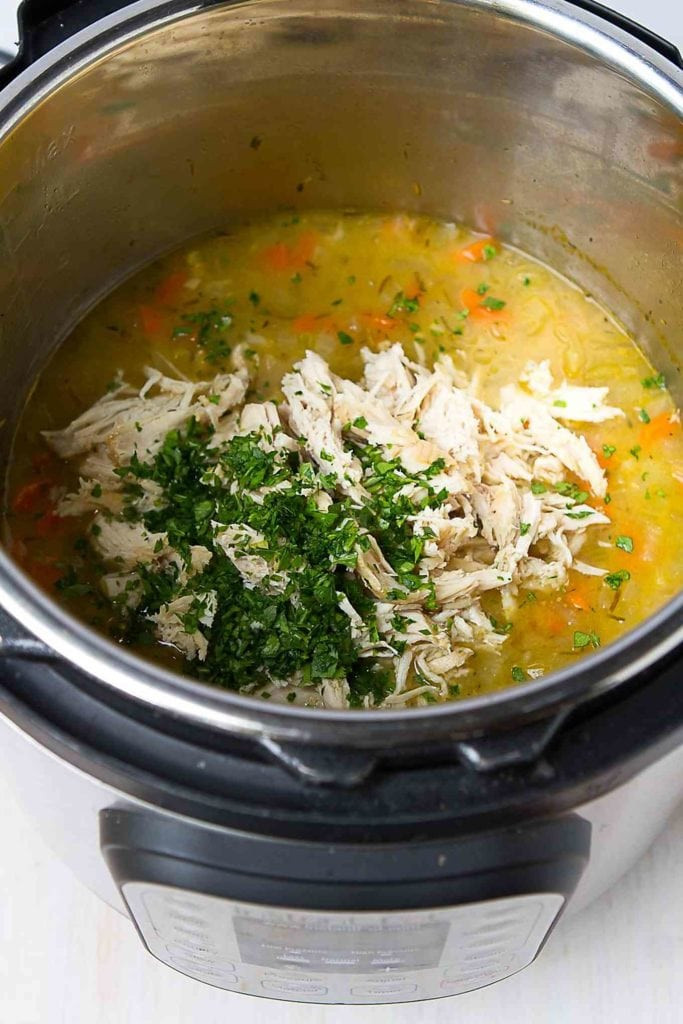 Chicken Rice Soup Instant Pot  Chicken and Rice Soup Instant Pot Cookin Canuck