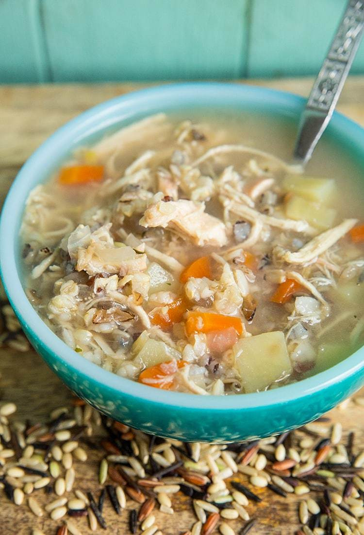 Chicken Rice Soup Instant Pot  Instant Pot Slow Cooker Chicken & Wild Rice Soup No