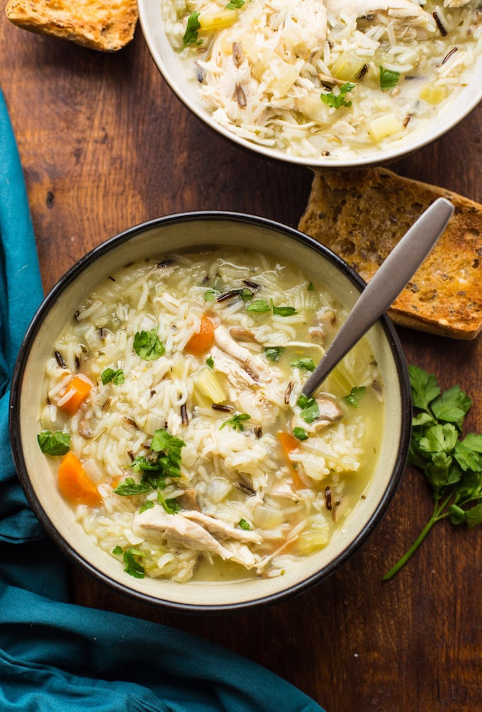 Chicken Rice Soup Instant Pot  20 Healthy Dinners to Make In the Instant Pot