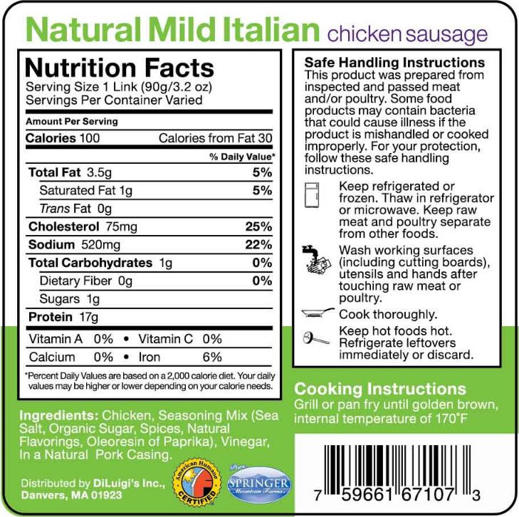 Chicken Sausage Calories  Products