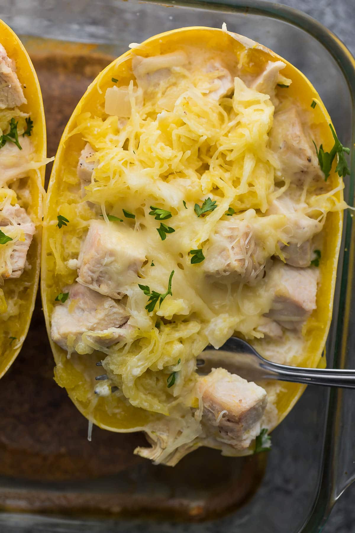 Chicken Spaghetti Squash  Lemon Chicken Spaghetti Squash Prep Ahead